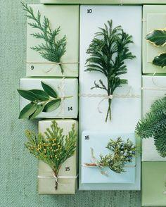 Au Naturel is the best kind of decoration. Via Martha Stewart