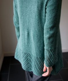 Clairette Cardigan by Megan Goodacre. That tiny tuck in the back is beautiful.