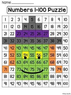 Halloween Math Center: Number Sense 100 Chart Puzzle (Witch) by Miss Giraffe 100 Number Chart, 100 Chart, Math Stations, Math Centers, Guitar Sketch, Guitar Drawing, Halloween Puzzles, Math Multiplication, Math Numbers