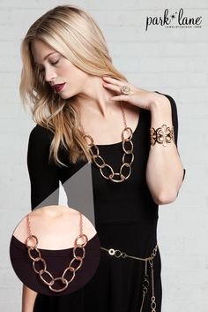 Chunky Chains go with any outfit! #parklanejewelry #fashion #falljewelry