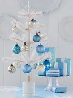 Blue Christmas Decor Inspiration   Christmas Decorating   Above My Bed