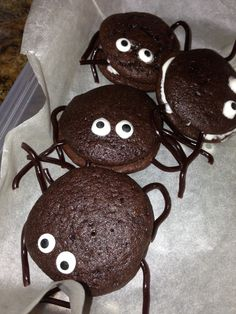 Halloween food - buy the whoopie pies and decorate
