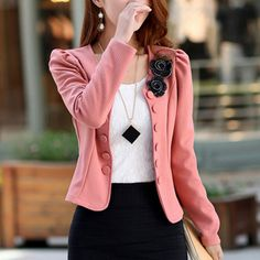 Women's Jacket 2016 New Autumn Temperament Female Suit Double Breasted Slim Women's Suit Full Sleeve Blazer Feminino Plus Size