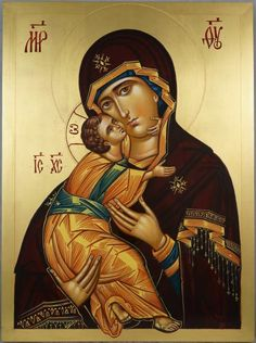 Theotokos of Vladimir Vladimirskaya Mother of God Hand-Painted Orthodox IconYou can find Orthodox icons and more on our websi. Paint Icon, Tree Icon, Peter Paul Rubens, Byzantine Art, Madonna And Child, Albrecht Durer, Religious Icons, Orthodox Icons, Angel Art