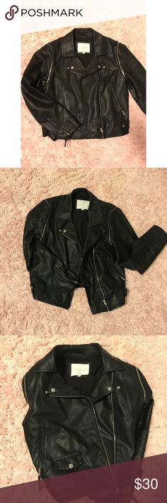 Lily Allen Leather Jacket Great condition! Arms zip off to make vest as well 😊 Topshop Jackets & Coats