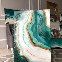 Resin Wall Art, Diy Resin Art, Destination Finale, Microsoft, Round Canvas, Wall Art Crafts, Chalk Paint Projects, Art Mural, Ocean Art