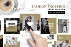 Fashion Shopping Instagram Template by RDK Design on @creativemarket