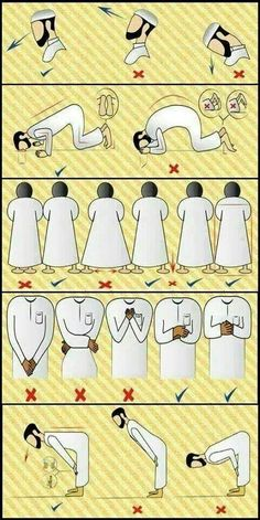 Correct stance for prayers