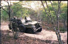 SADF Landrover Series II Gunbuggy, Ops Moduler 87.