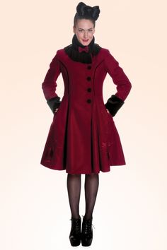 Bunny - Vintage Fairy Coat in Burgundy