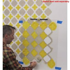 Cutting Edge Stencils - Moroccan Tiles Wall Pattern (Good Pattern for Stenciled curtains)