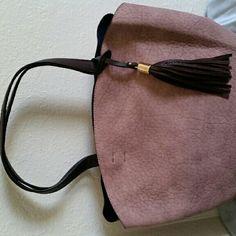 Champagne color handbag Champagne colored 2 in 1 handbag. Detachable divider with shoulder strap Fashion  Bags Shoulder Bags