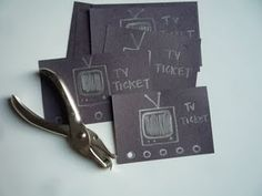 kids punch card- this could work for a number of things!