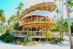 Jellyfish Restaurant at Bavaro Beach, Punta Cana. Great restaurant open for lunch and dinner w/ a lounge on the beach.