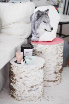 Interieur | Natuurlijk wonen met een boomstam tafel of tak als kapstok – Stijlvol Styling - WoonblogStijlvol Styling – Woonblog