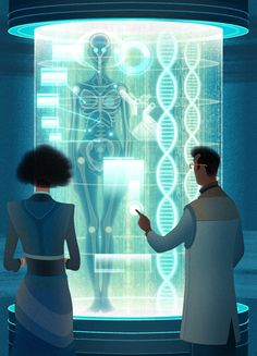 Transhumanism DNA Screening / GQ Magazine - Sam Chivers - Debut Art