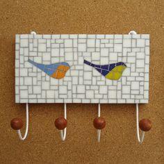 Cabideiro Two Birds com 04 ganchos