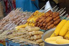 Pinoy street food Pinoy Street Food, Filipino Street Food, Pinoy Food, Filipino Food, Grilled Bananas, Corn Chicken, Pancit, Philippines Food, Mouth Watering Food