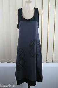 Size L 14 Ladies Grey Tunic Dress Boho Chic Layer Casual Beach Indie Gypsy Style | eBay