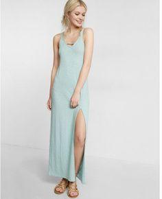 Express cut-out front maxi dress