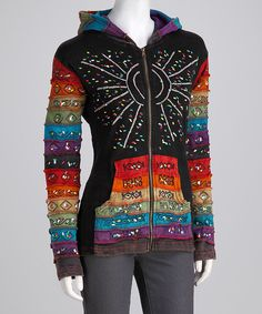 Look at this Black Season Cycle Long Zip-Up Hoodie on #zulily today!