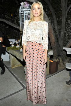 Kate Hudson in Etro and Candela. [Photo by Donato Sardella]