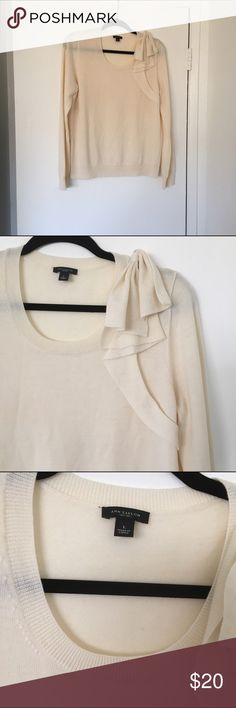 Beautiful Ann Taylor Blouse. Beautiful Ann Taylor Blouse.  Size Large. New without tags. Made of 100% Extrafine Merino Wool. Very soft and comfortable. Ann Taylor Tops