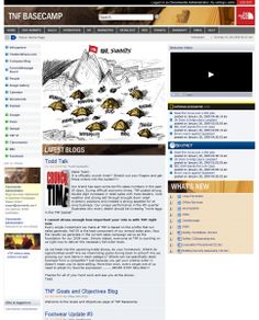 BaseCamp - North Face's intranet