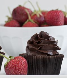 Dark Chocolate Cupcakes with Dark Chocolate Frosting by Sweet Revelations