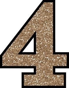 This set of free printable letters 0 - 9 have a glitter pattern and will add some glittery shine to your next craft or handmade card making project.: Glitter Number 4 To Print