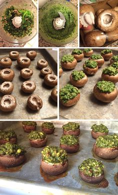 Vegan Pesto Stuffed Mushrooms   Detoxinista