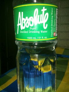 Absolute, Pure Distilled Drinking Water