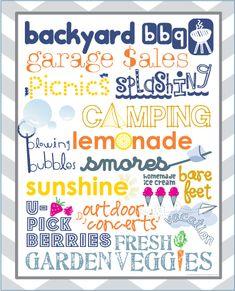 Wonderful Joy Ahead: Summer {Free} Printable