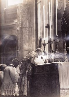 Pope Pius XII offering the Holy Sacrifice of the Mass.