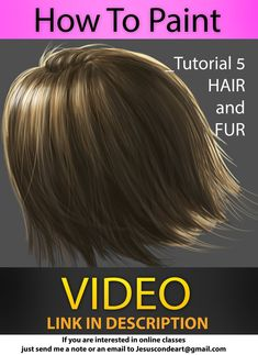 How To Paint HAIR and FUR by Jesus Conde G by JesusAConde on DeviantArt