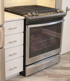 My Whirlpool slide in gas range. This is one sophisticated range!!! I love it!!!