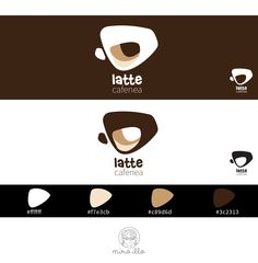 Coffee Latte, Coffee Shop, Behance, Branding, Illustrations, Gallery, Check, Projects, Crafts