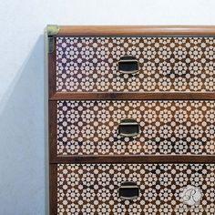 Designer Stencils with Faux Tile Decor - Cadiz Tile Stencils - Royal Design Studio