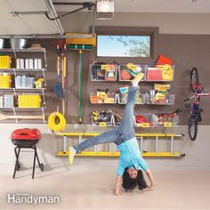 Maximize your garage storage space quickly and easily with simple and inexpensive shelves, baskets and hooks. And it will only take you one morning to achieve garage happiness.