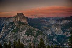 Yosemite's Half Dome in the gloaming.