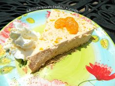 Skinny Sweets Daily: Creamy Dreamy Orange Cheesecake - Low Carb  Low Sugar, only 2 Weight Watchers points! Whoo hooo! Click pic for recipe and enjoy!