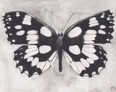 Papaver Black and White  This is an archival print of my original watercolor painting.  The subject is a lovely black and white butterfly.  SIZE: 8X10 inches (20cmX 25cm)  MATERIALS: Pigment inks on 100% cotton, bright white, 210gsm fine art paper which is eco friendly and archival.  SIGNATURE: Teodora Opris printer's chop mark, bottom right.  CARE INSTRUCTIONS: In order to keep your print in great condition it is important to frame with archival materials (mattes, backing board etc), keep…