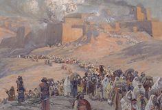 El exilio babilónico deportación de los hebreos del Reino de Judá a Babilonia tras la destrucción del Templo de Jerusalén siglo VI a.E.C. Tissot, 1896-1902.