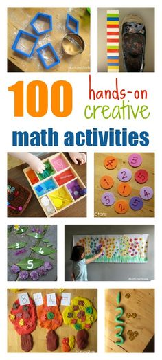 100 creative, sensory math activities for toddlers, preschool, and school age kids