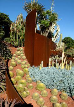 Royal Botanic Gardens Sydney - designed by Jamie Durie Cactus Photoshoot, Jamie Durie, Garden City Park, Royal Botanic Gardens Sydney, Outdoor Art, Outdoor Decor, Australian Garden, Planting Succulents, Succulent Plants