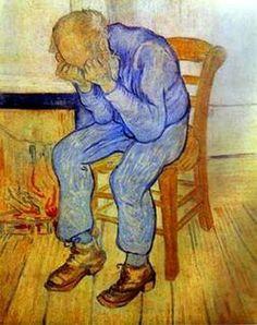 Homem com as mãos na cabeça, Van Gogh.