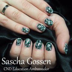 #CND #CNDWorld #Shellac #CNDShellac #nailart #naildesign #nails #MintContertible #OpenRoad #openroadcollection #stampingnailart #stamps