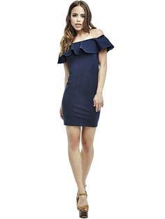 EUR119.90$  Watch here - http://viflb.justgood.pw/vig/item.php?t=15bvd53296 - BOAT-NECK DRESS WITH FRILL