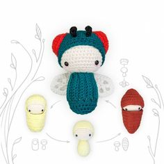 GREEN BOTTLE FLY - Life Cycle Playset Amigurumi Pattern