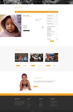 Charity, donation and fundraising WordPress theme